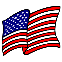 waving american flag no gradients clip art free borders and clip art rh freebordersandclipart com american flag clip art for kids american flag clipart images
