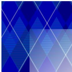 Blue Argyle Border