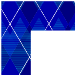 Blue Argyle Border Frame