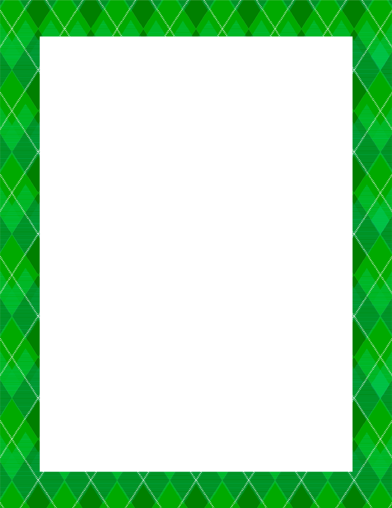 Argyle Green Border Frame