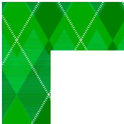 Green Argyle Border Frame
