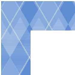Light Blue Argyle Border Frame