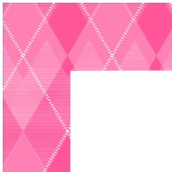 Pink Argyle Border Frame
