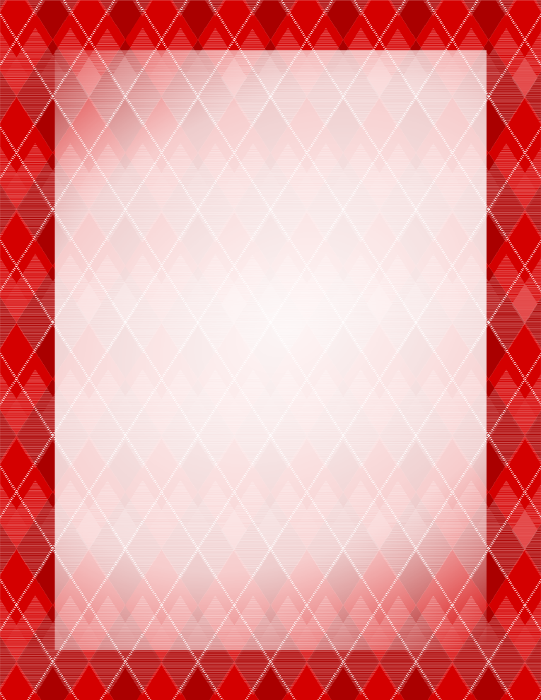 Argyle Red Border