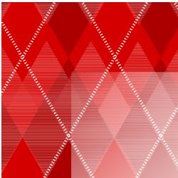 Red Argyle Border