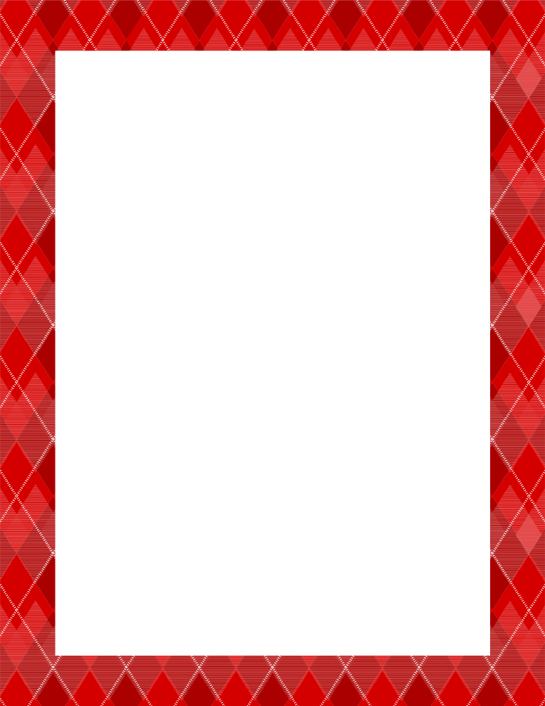 Argyle Red Border Frame