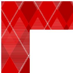 Red Argyle Border Frame