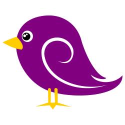 Violet Baby Bird