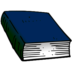 Blue Closed Book