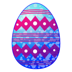 Blue Easter Egg Clip Art | Free Borders and Clip Art