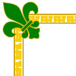 Fleur De Lis Green Border