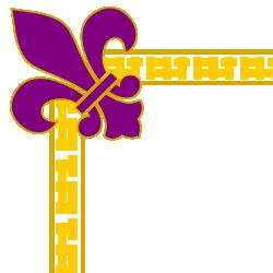 Fleur De Lis Purple Border