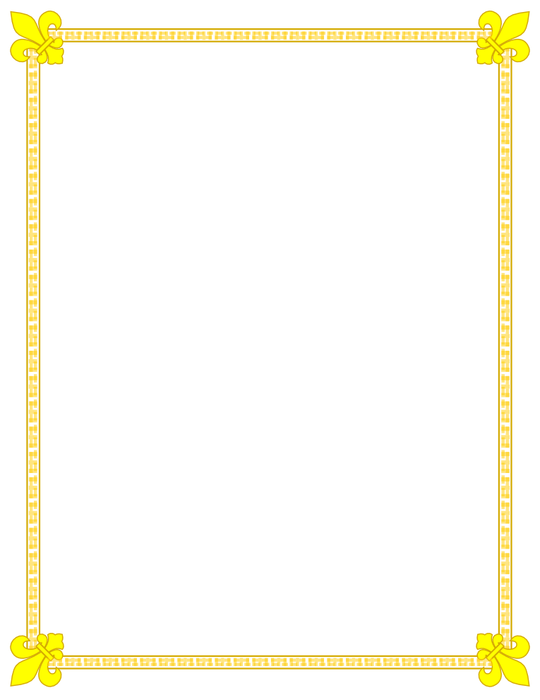 Fleur De Lis Gold and Yellow Border