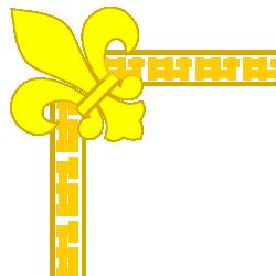 Fleur De Lis Yellow Border
