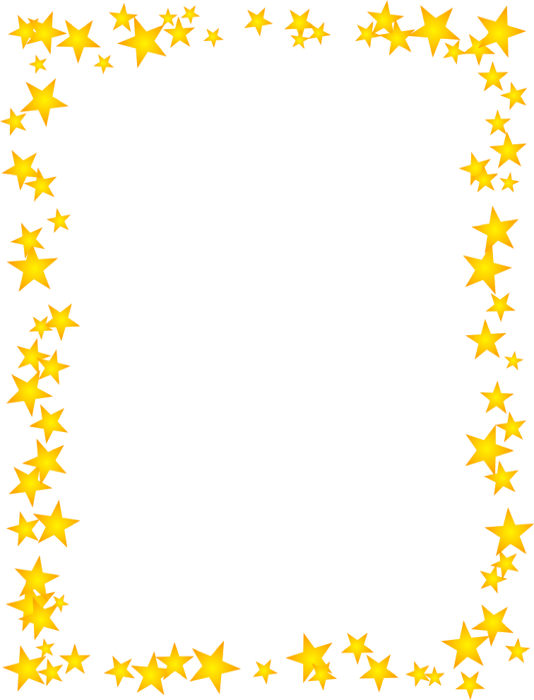 Gold Stars Scattered Border | Free Borders And Clip Art.com