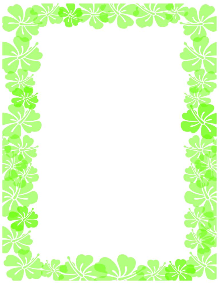 Green Hibiscus Border
