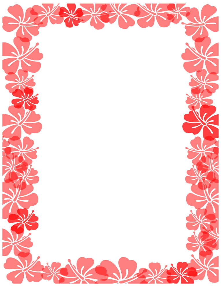 Free Borders and Clip Art | Hibiscus Themed Clip Art and Borders