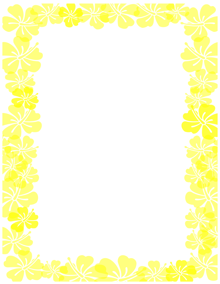 Yellow Hibiscus Border | Free Borders And Clip Art.com