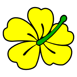 yellow hibiscus flower clip art free borders and clip art rh freebordersandclipart com yellow flower clipart yellow bell flower clipart
