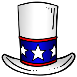 Patriotic Top Hat Stars