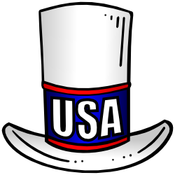 patriotic top hat with USA