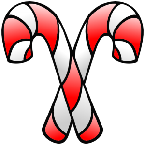 Christmas Double Peppermint Candy Cane Clip Art