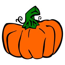 tall pumpkin outline drawing Tall Pumpkin Outline Clip Art