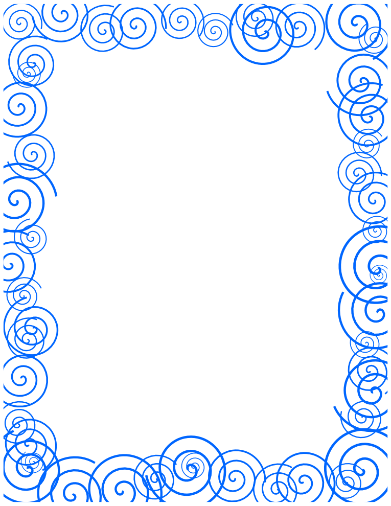 Blue Spiral Border