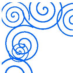 Spiral Blue Border