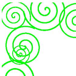 Spiral Green Border