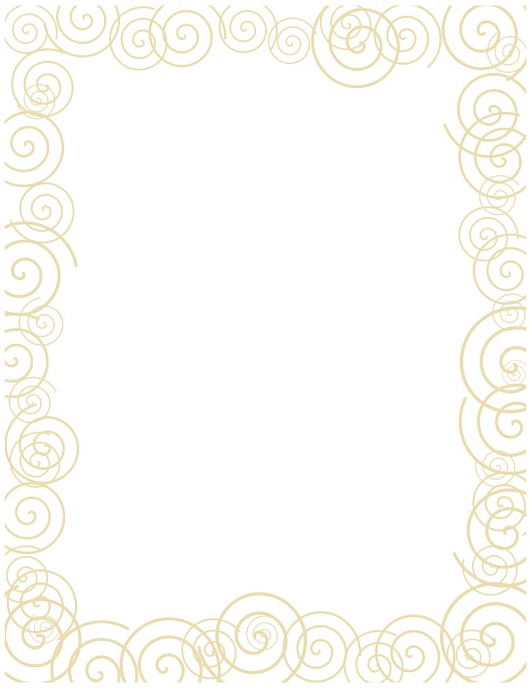 Khaki Spiral Border