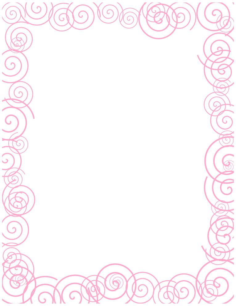 Pink Spiral Border