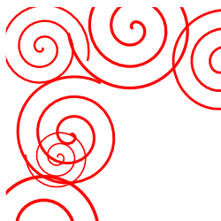 Spiral Red Border