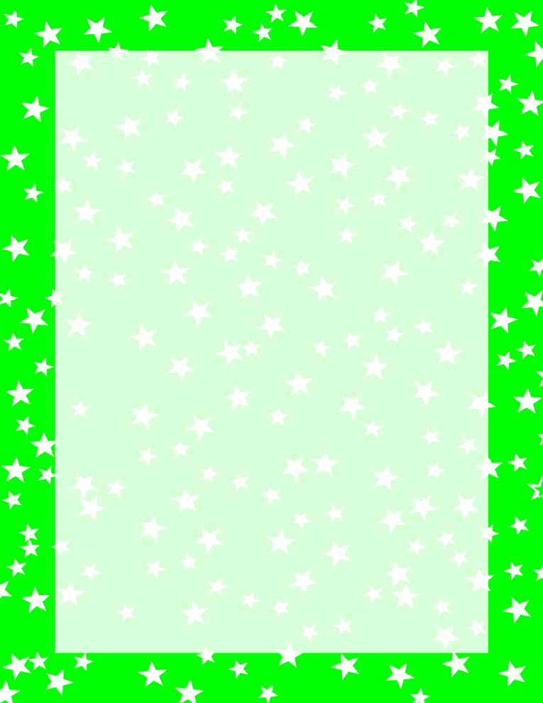Stars Border Green and White