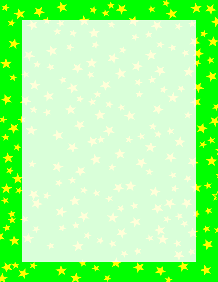 Stars Border Green and Yellow