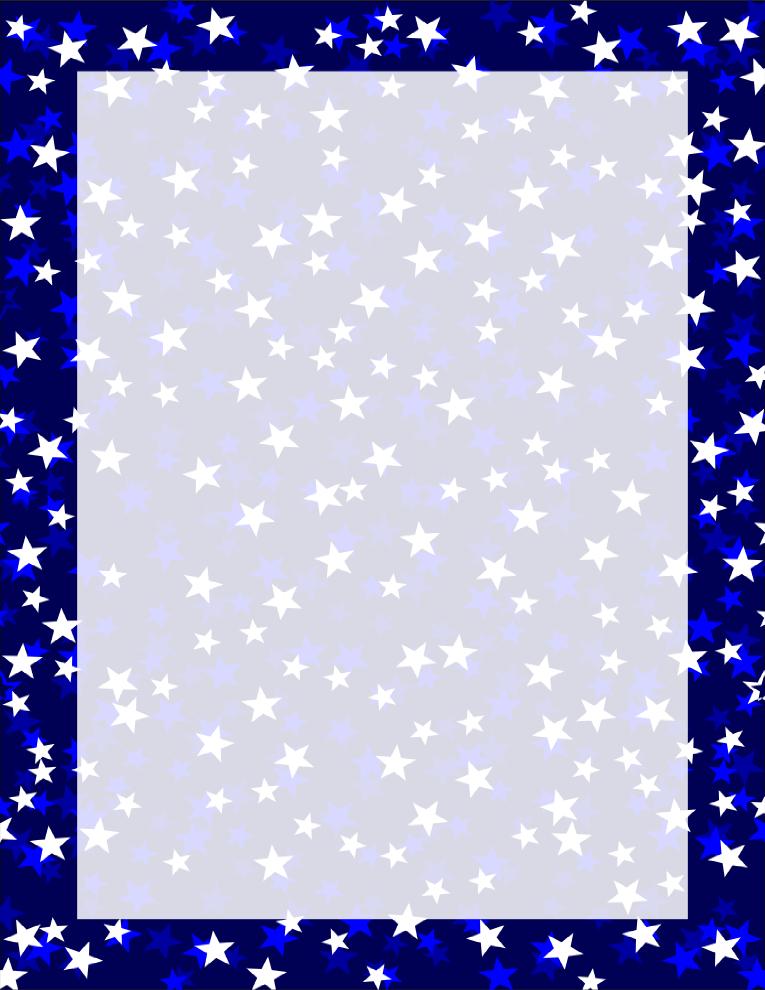 Navy Three Tone Stars Border