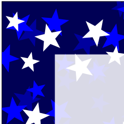 Navy Three Tone Stars