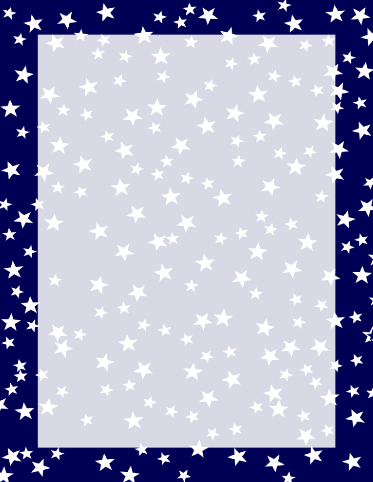 Stars Border Navy and White