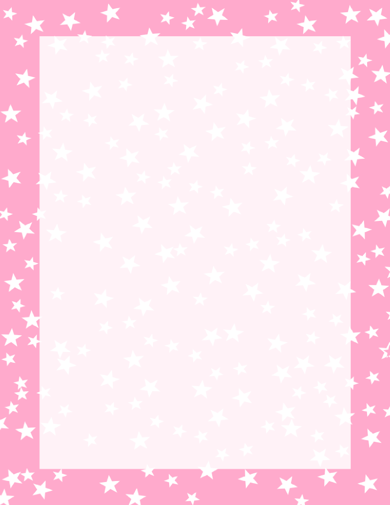 Pink And White Stars Border Free Borders And Clip Art Com