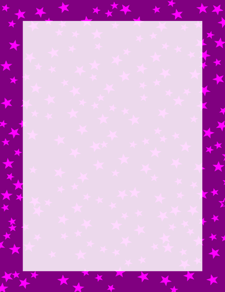 Stars Border Purple and Pink