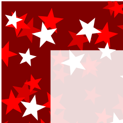 Red Three Tone Stars