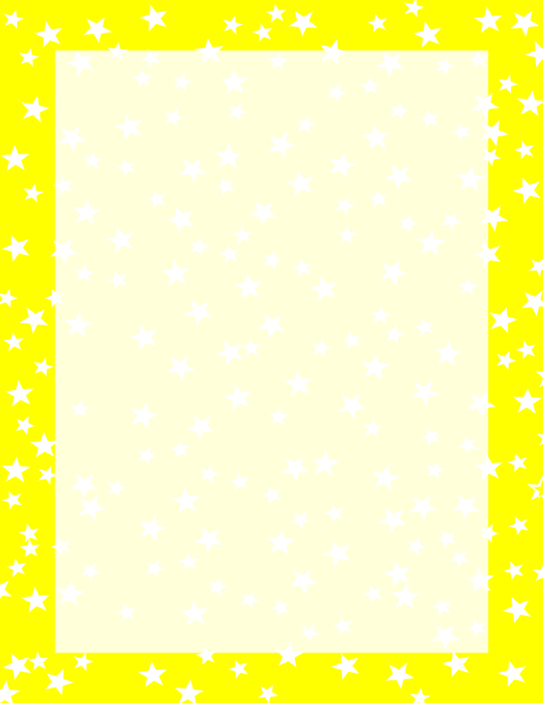 Stars Border Yellow and White