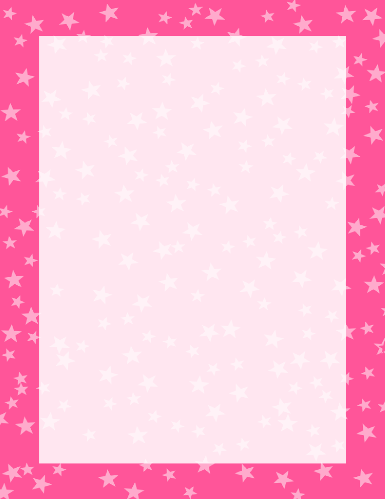 Stars Border Dark and Light Pink