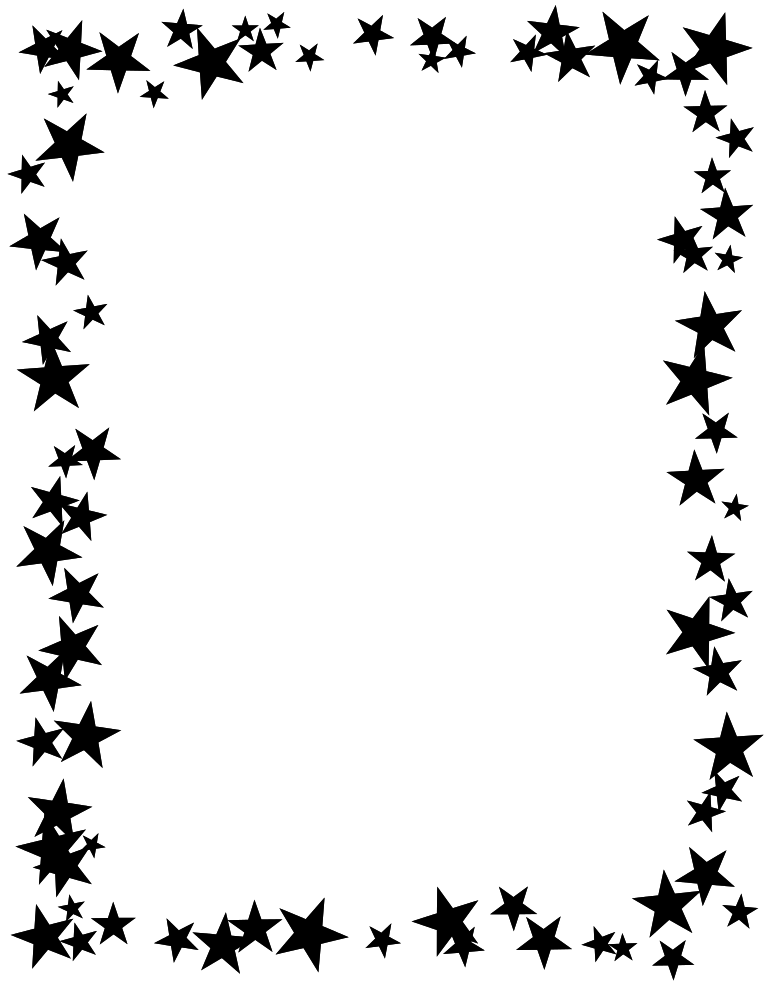 Black and White, high contrast stars design.